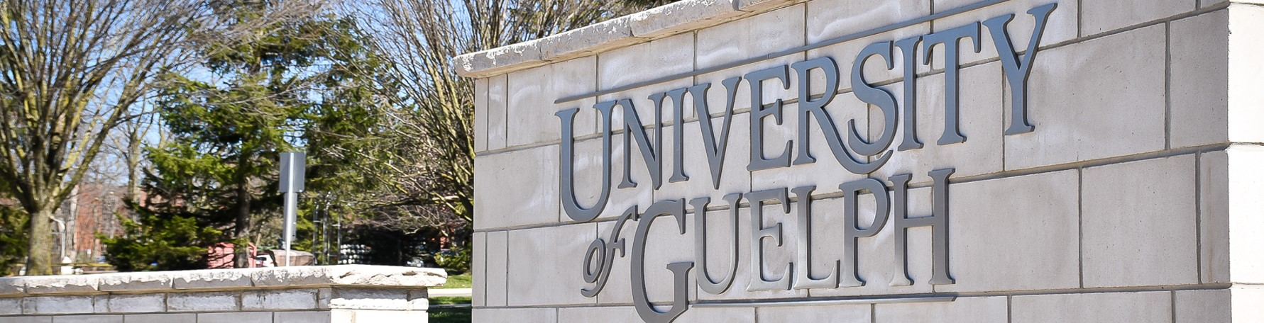 The University of Guelph front entrance sign